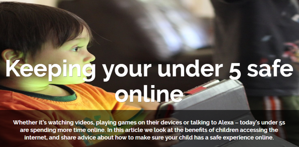 Keeping under 5s safe online