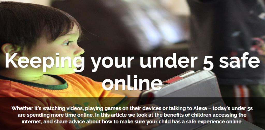 Keeping under 5s safe online